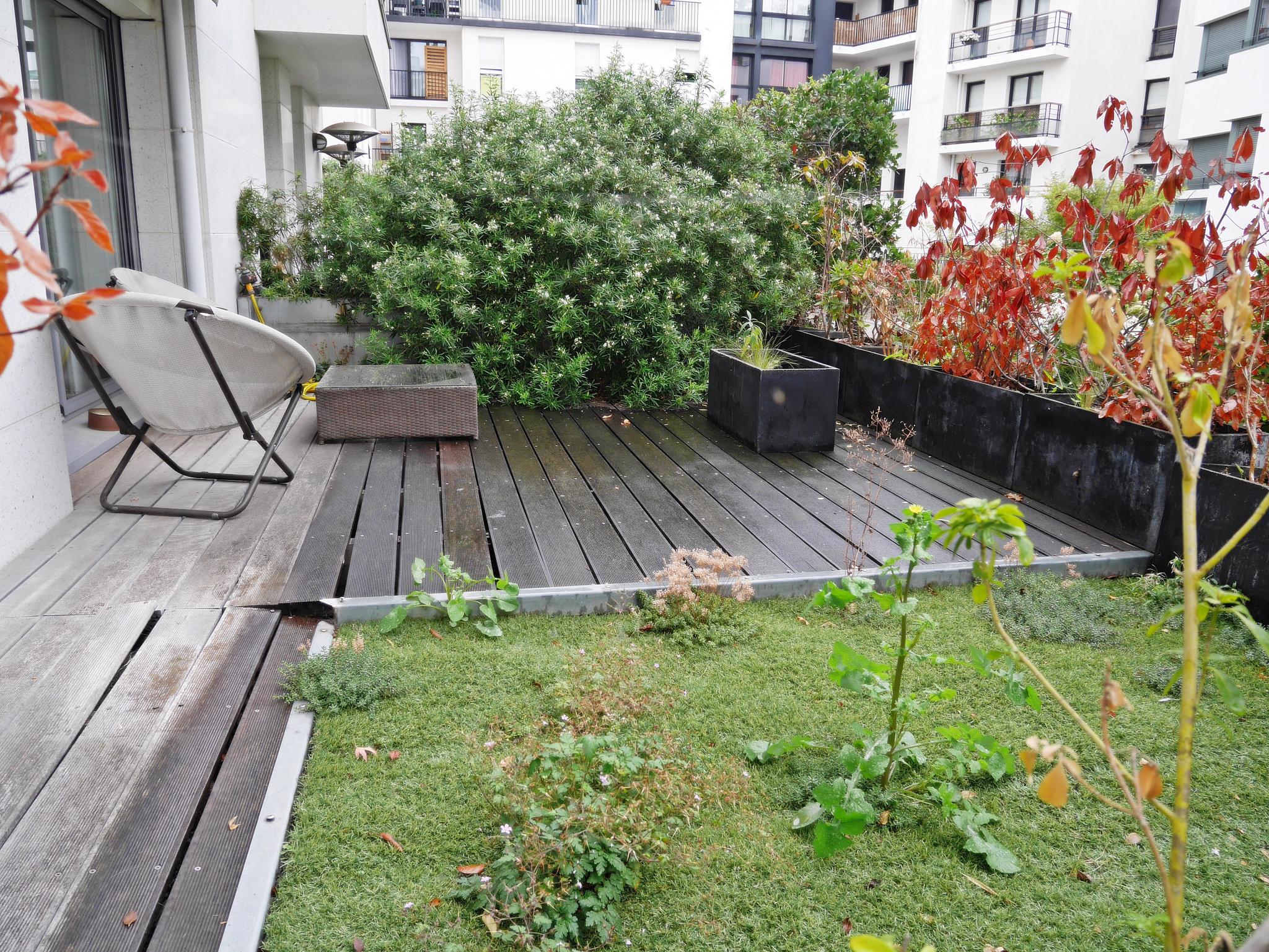 2 pièces Boulogne Sud rez de jardin